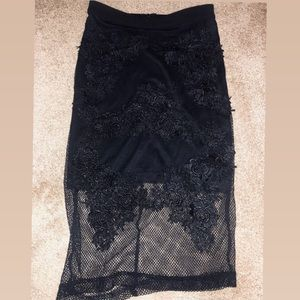 Beautiful Lace Mesh Pencil Skirt